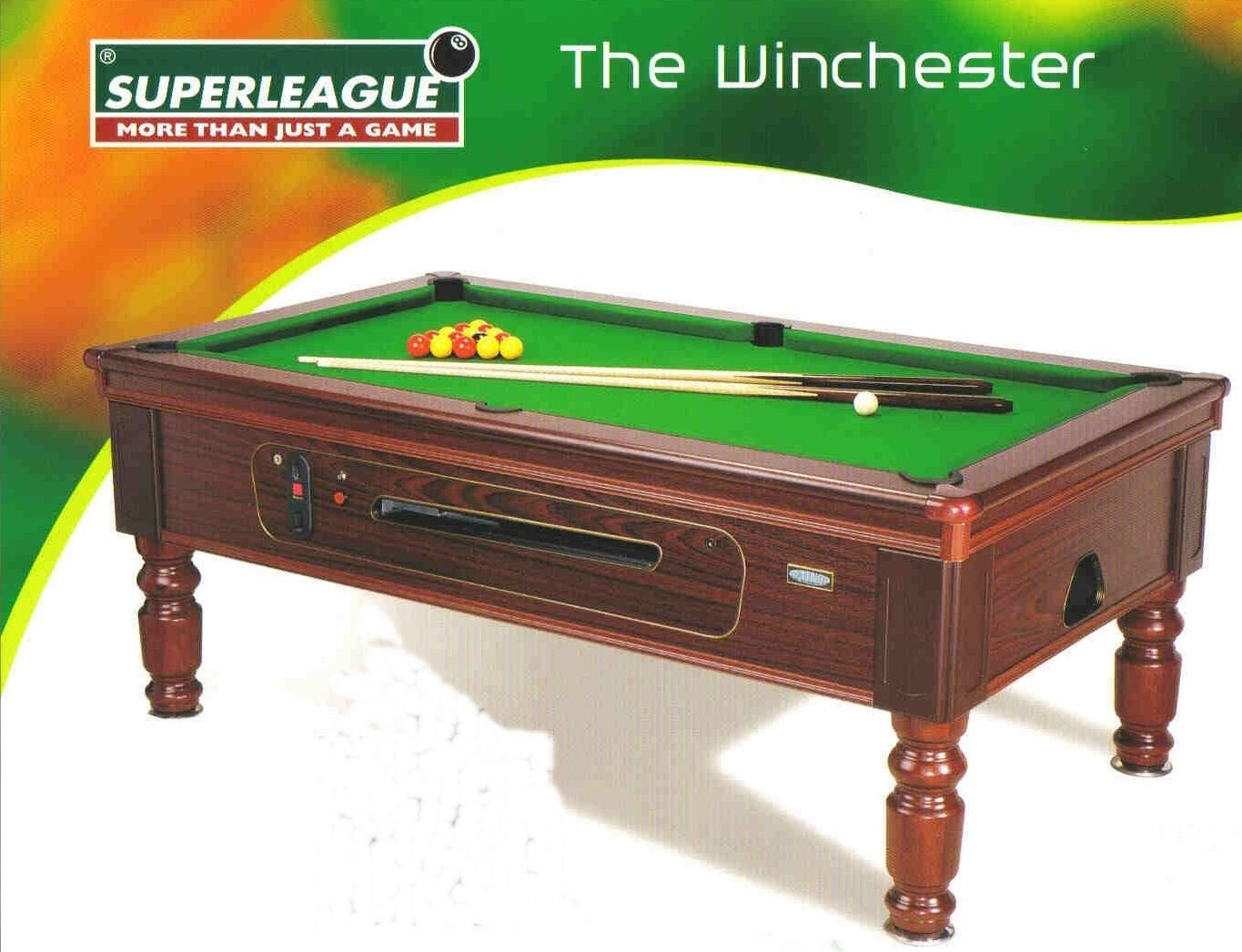 Merveilleux BRAND NEW 7 Feet X 4 Feet SUPERLEAGUE TRADITIONAL POOL TABLE SLATE BED  CHAMPIONHIP QUALITY